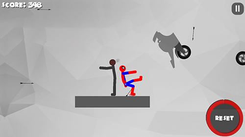 Stickman dismount 3: Heroes screenshot 1