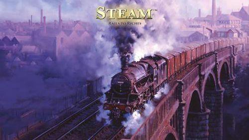 logo Dampf. Eisenbahn zum Reichtum