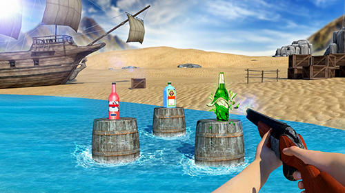 Bottle shooter game 3D pour Android