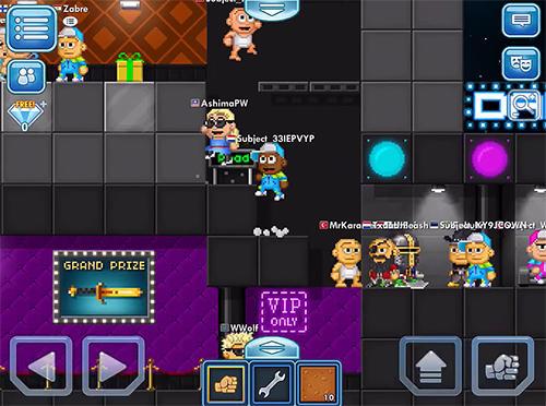 Arcade-Spiele Pixel worlds für das Smartphone