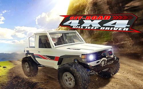 Off road 4x4: Hill jeep driver icon