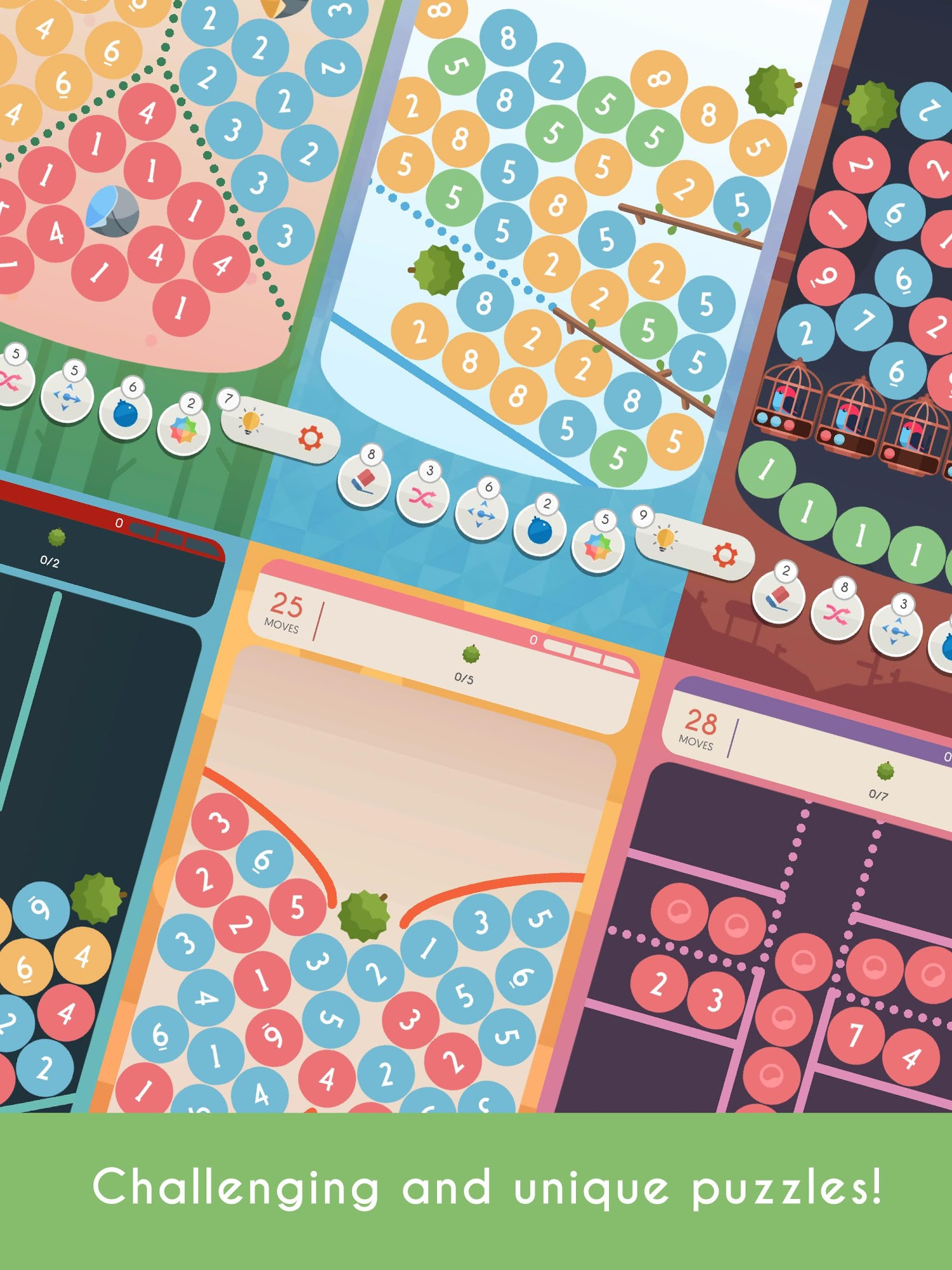 ITENO - a number puzzle game スクリーンショット1