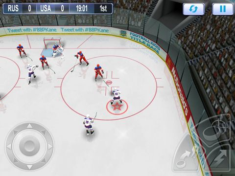 Screenshot Patrck Kanes Kassisches Hockey auf dem iPhone