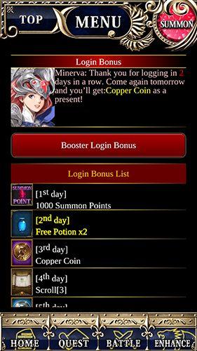 RPG-Spiele Legend of Minerva für das Smartphone