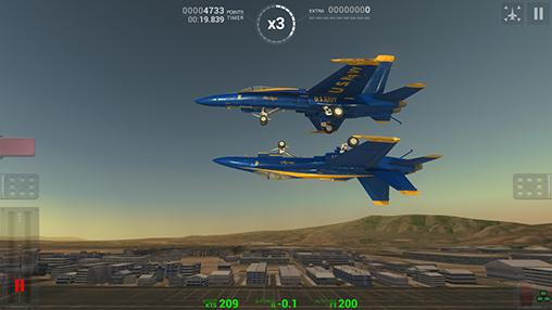 Blue angels: Aerobatic sim for Android