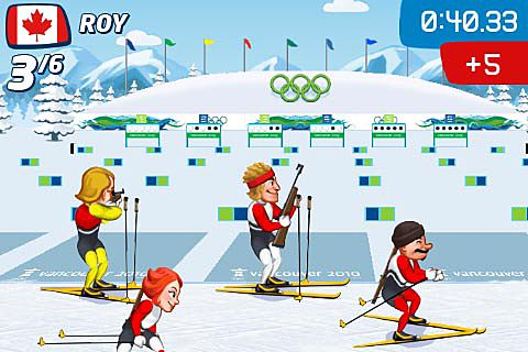 Аркады игры: скачать Vancouver 2010: Official game of the olympic winter games на телефон