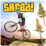 Shred! Downhill mountainbiking ícone