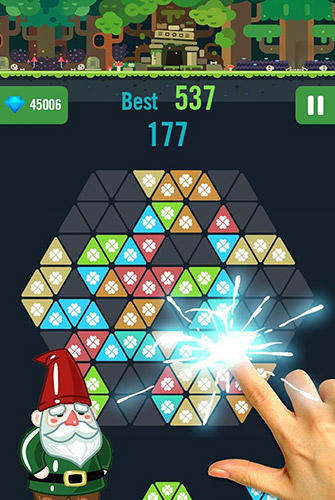 Logik Triangle star: Block puzzle game für das Smartphone