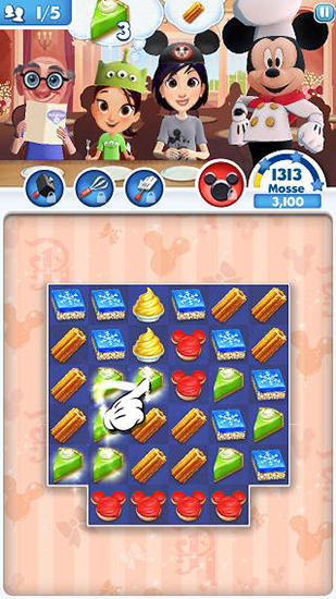 Disney: Dream treats. Match sweets für Android