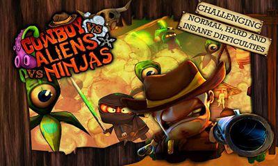 Juegos de arcade Cowboy vs. Ninjas vs. Aliens para teléfono inteligente