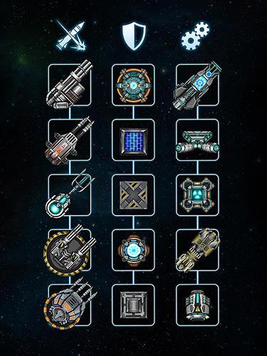 Onlinespiele Space arena: Build and fight für das Smartphone