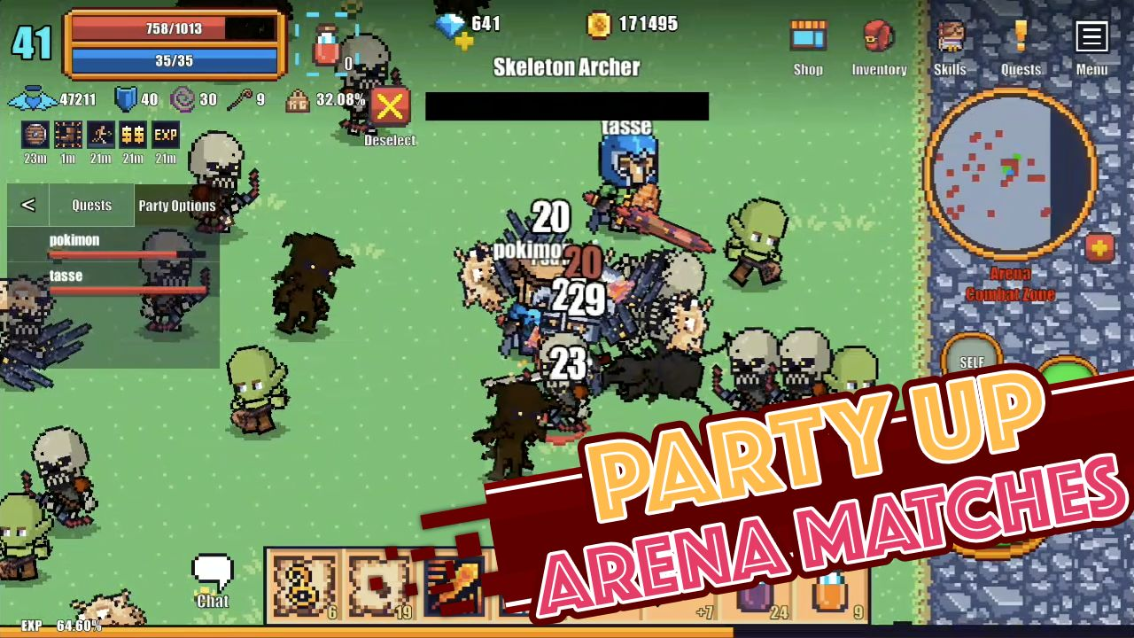 Pixel Knights Online 2D MMORPG MMO RPG for Android