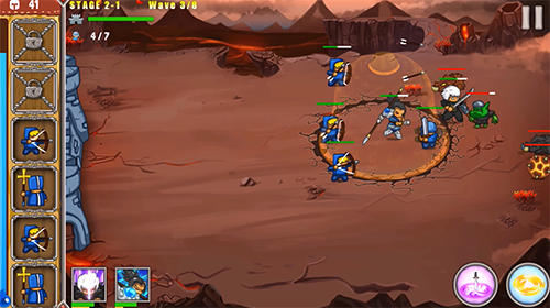 Frontier warriors. Castle defense: Grow army für Android