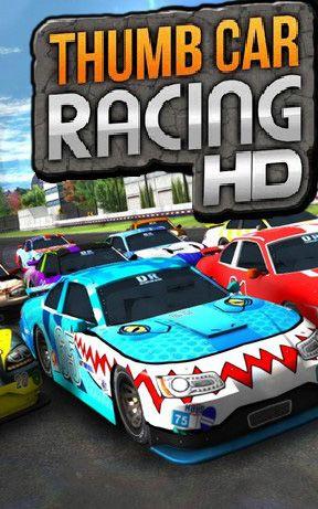 Thumb car racing icon
