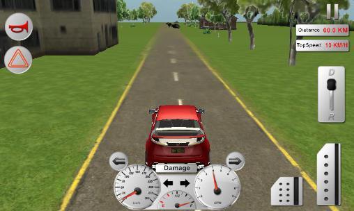 Autos Modern car driver 3D auf Deutsch