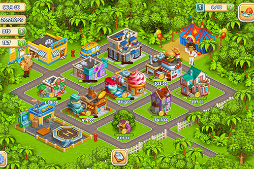 Idle cartoon city für Android