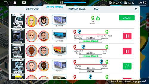 Virtual truck manager: Tycoon trucking company für Android