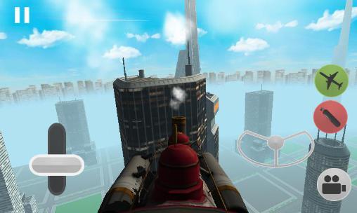 Flying train simulator 3D auf Deutsch