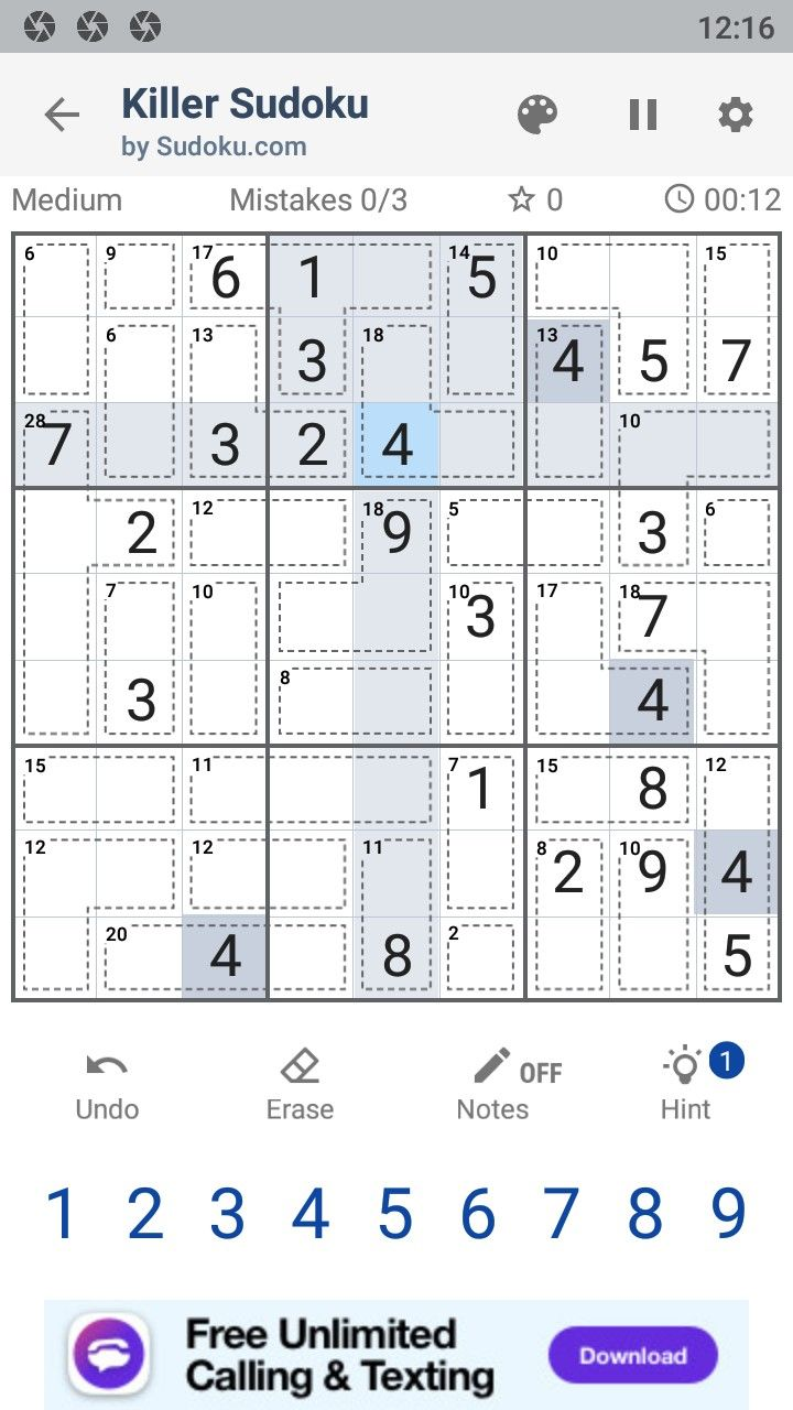Killer Sudoku by Sudoku.com - Free Number Puzzle для Android