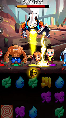 Pet superheroes adventure puzzle quest screenshot 2