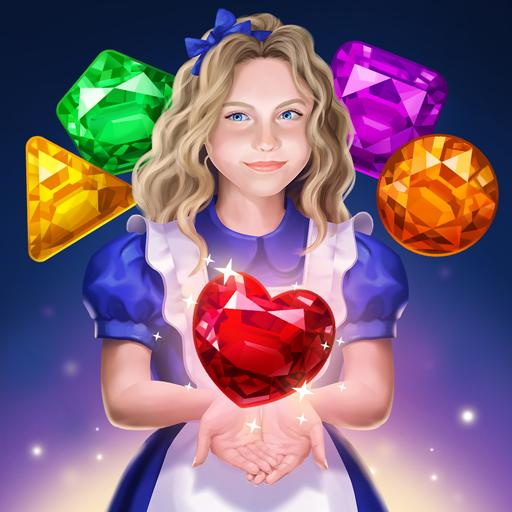 Alice in Puzzleland : Free Match 3 Game Symbol
