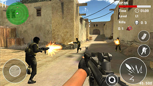 Actionspiele Counter terrorist shoot für das Smartphone