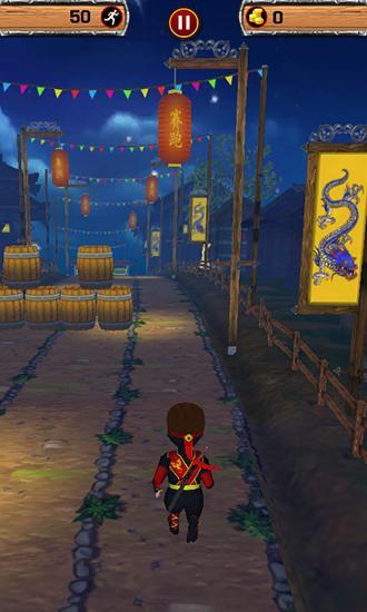 Ninja-Spiele Ninja blades: Brim run 3D auf Deutsch