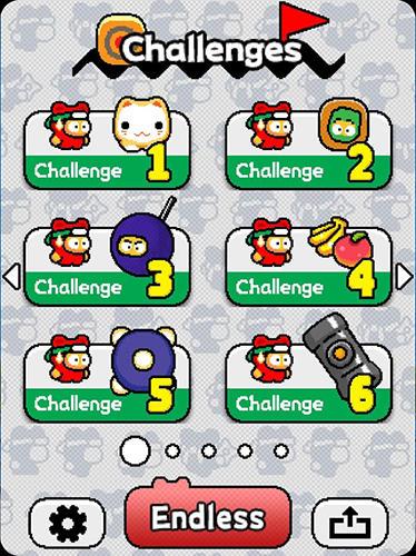 Arcade-Spiele Ninja Spinki challenges!! für das Smartphone