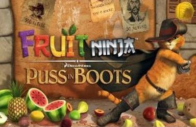 Screenshot Fruit Ninja: Der gestiefelte Kater auf dem iPhone
