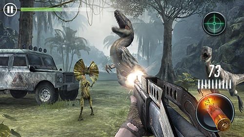 Jurassic missions: Free offline shooting games para Android