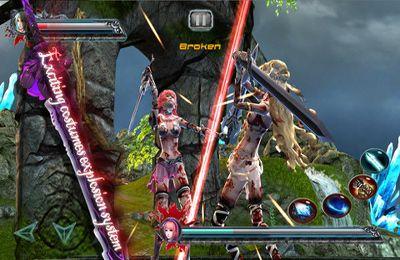 Screenshot Schwertgöttin auf dem iPhone