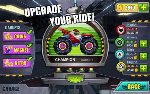 d'arcade Monster wheels: Kings of crash pour smartphone