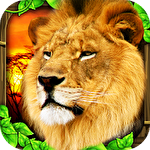 Safari simulator: Lion icono