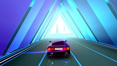 Скриншот Неоновое вождение на Айфон