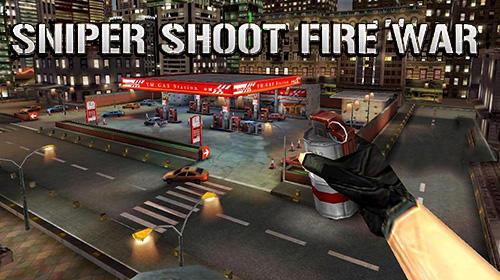 Sniper shoot fire war capture d'écran