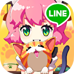 Line cat cafe icon