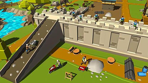 Juegos de construcción Security wall construction game en español