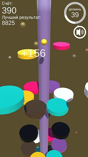 Arcade-Spiele Color jumper: On the helix für das Smartphone