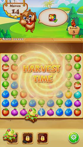 Match 3 game: Chipmunk farm havest für Android