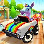 Pony craft unicorn car racing: Pony care girls Symbol