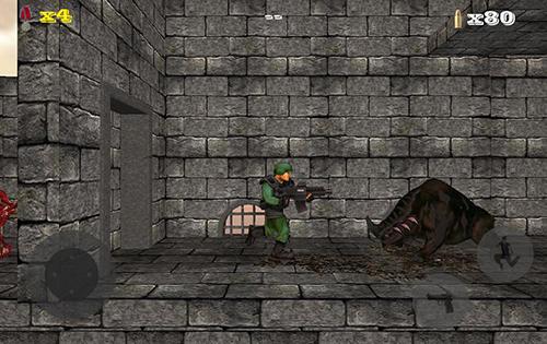 Plattformer Doom of zombie killer auf Deutsch