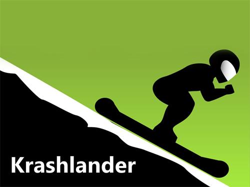 logo Krashlander: Fahre Ski, Spring, Crashe!