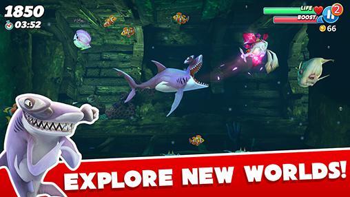 Jogos de arcade Hungry shark worldpara smartphone