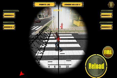Screenshot Sniper City: Zombies auf dem iPhone