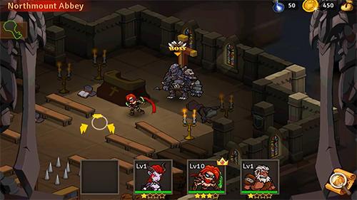 Strategie RPG Hardly heroes auf Deutsch