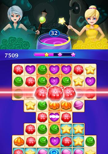 3 Gewinnt-Spiele Candy sweet: Match 3 puzzle auf Deutsch