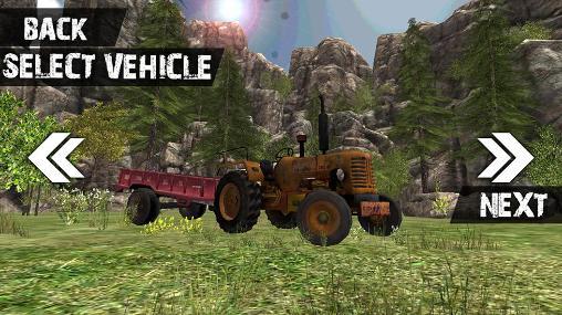 Simulator-Spiele Truck driver 3D: Offroad für das Smartphone