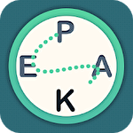 Letter peak: Word search up Symbol