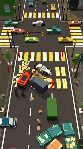 Arcade-Spiele Car bump: Smash hit in smashy Road 3D für das Smartphone