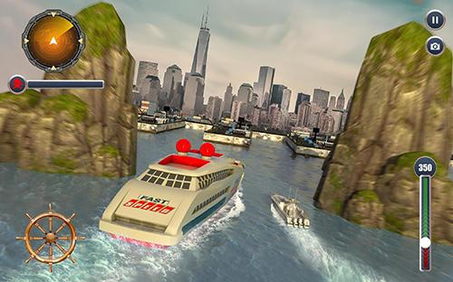 Cruise ship driving racer auf Deutsch